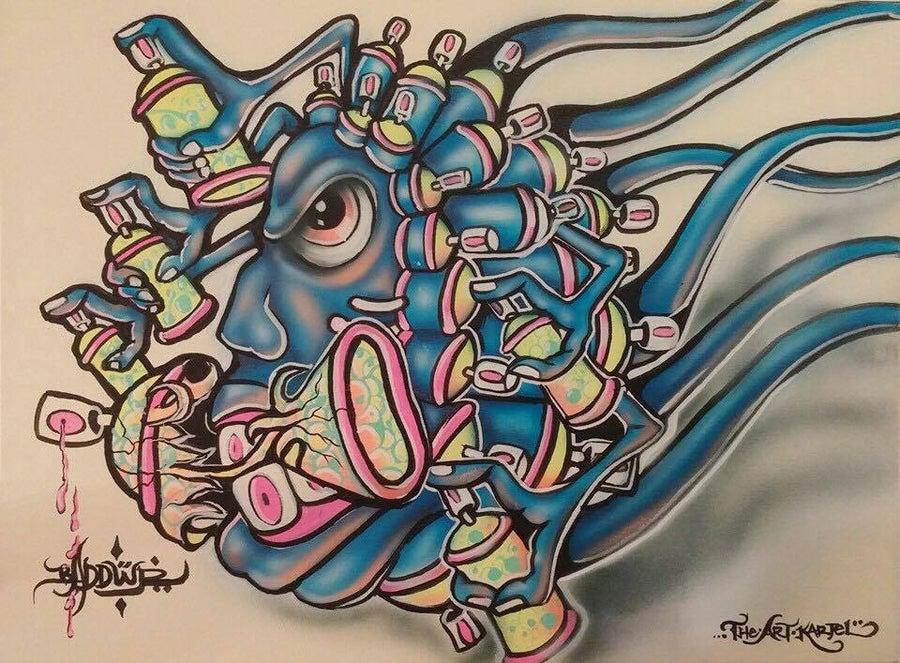 """Image of """"Spray Virus"""" By Badder Israel"""