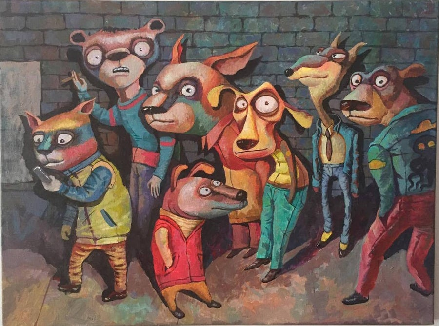 """Image of """"Line In The Night Club"""" By Elena Sedov"""
