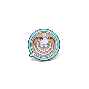 Image of Daydream Nimbus Latte art Pin - Heart