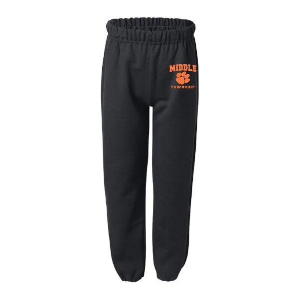 Image of Youth Sweatpants w/ Athletic Logo (Black)