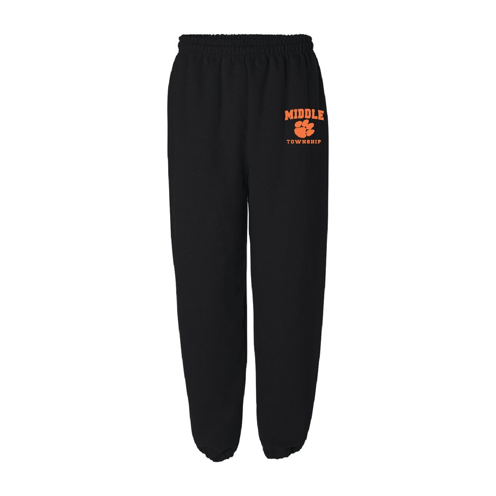 Image of Sweatpants w/ Athletic Logo (Black)