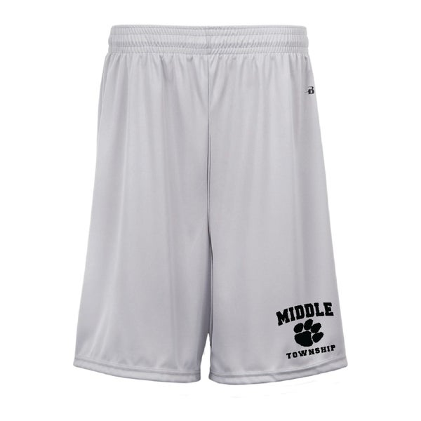 Image of Youth Shorts w/ Athletic Logo (Silver)