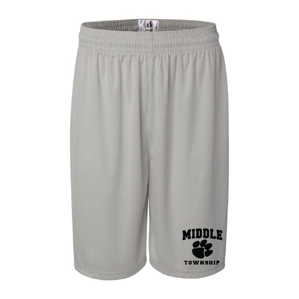 Image of Shorts w/ Athletic Logo (Silver)