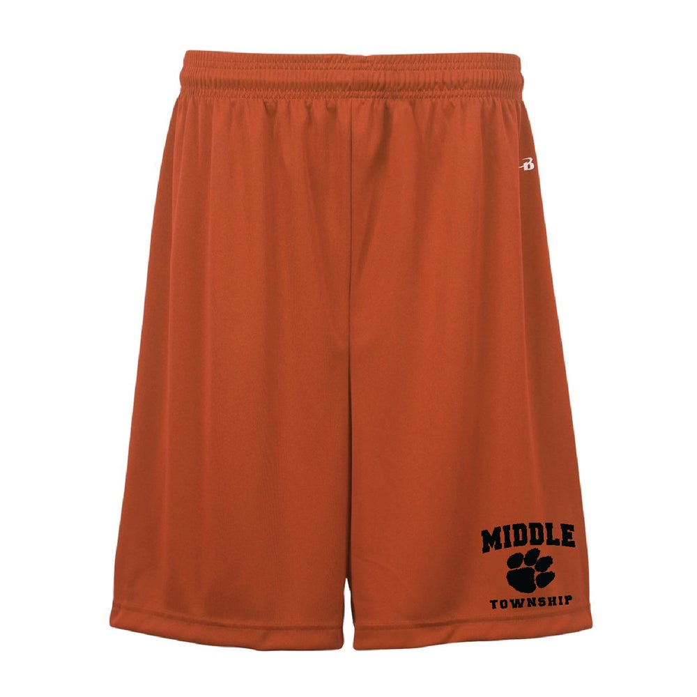 Image of Shorts w/ Athletic Logo (Orange)