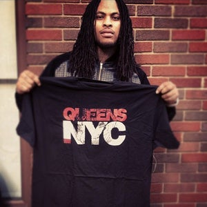 Image of QUEENS NYC TEE - BLACK