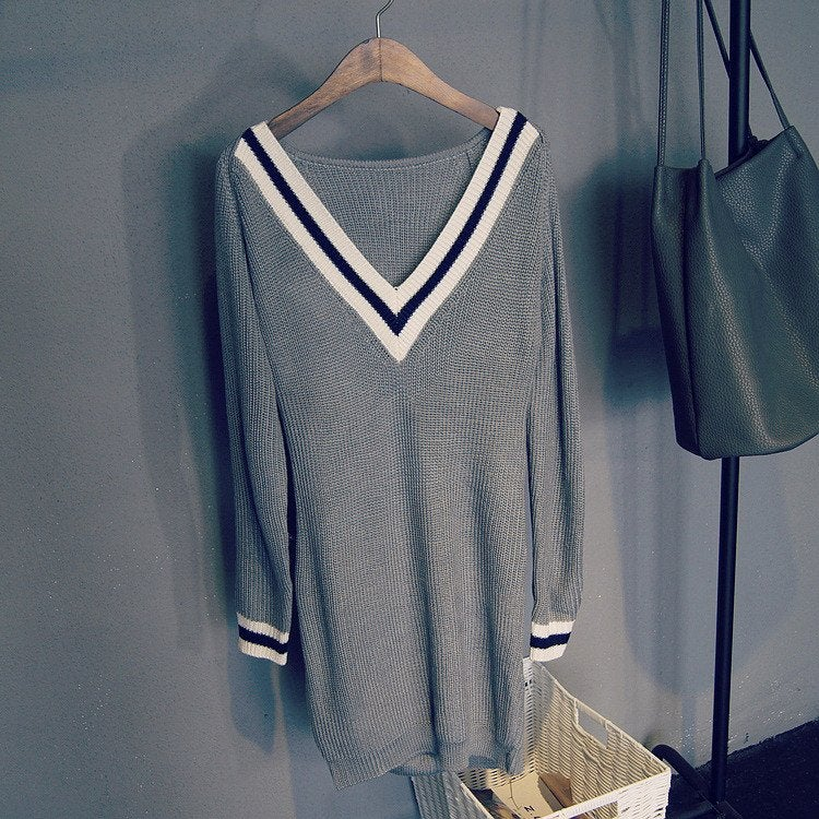 Image of BIG V CUTE SWEATER DRESS