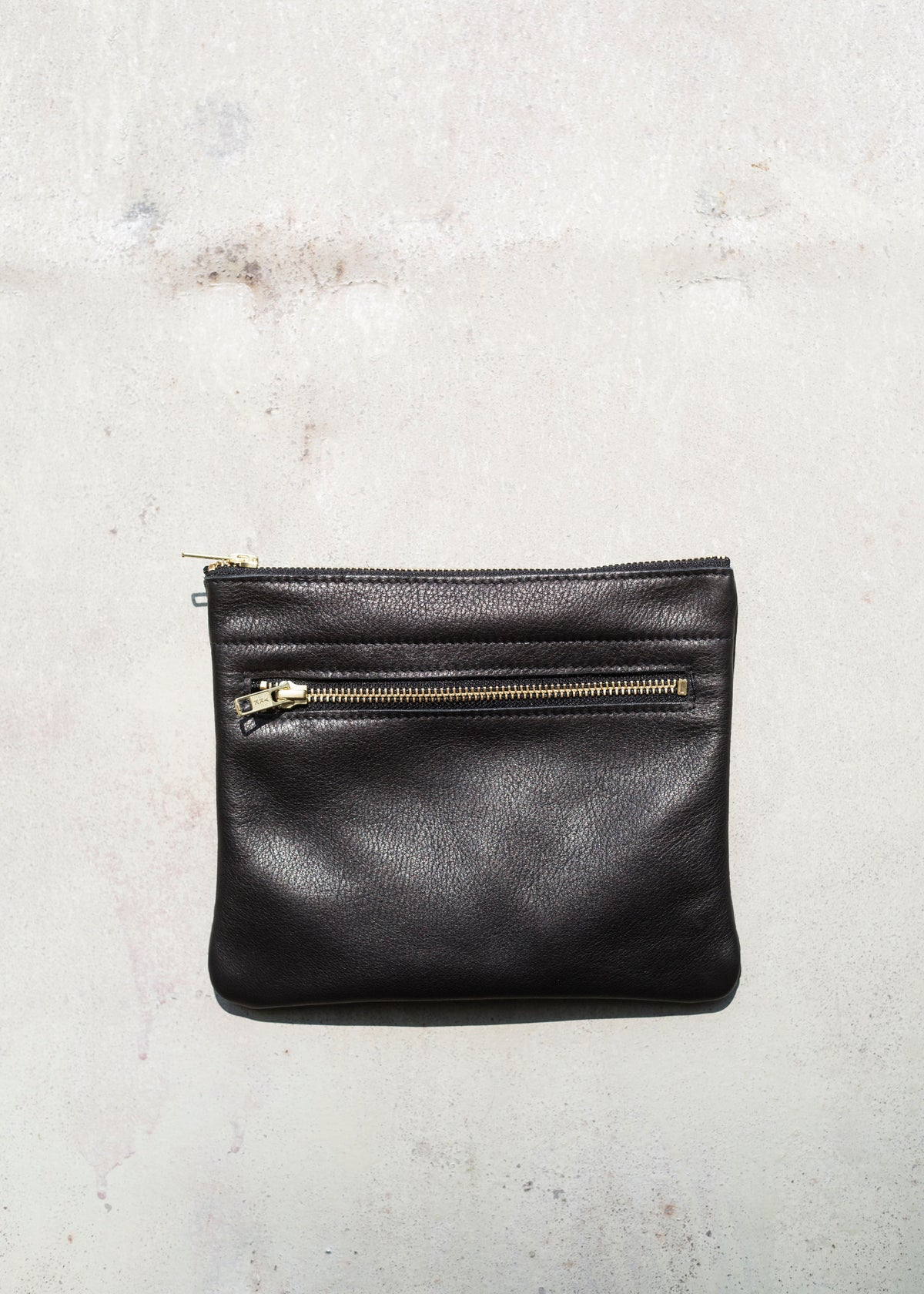 Image of Leather Clutch or travel pouch
