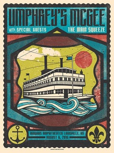 Image of Umphrey's McGee Official Concert Poster, Louisville, KY 08.06.16