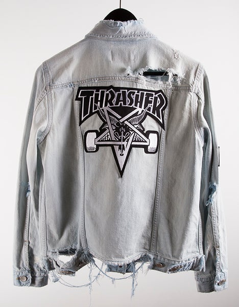 Image of Thrasher Skategoat Destroyed Denim