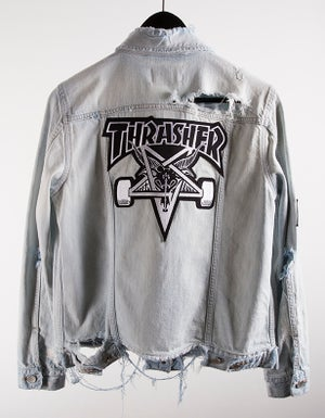 Image of Thrasher Skategoat Destroyed Denim