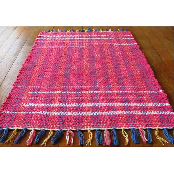 Image of Handwoven Rag Rug - Hot pink, pink, light pink / Eco-Friendly, upcycled