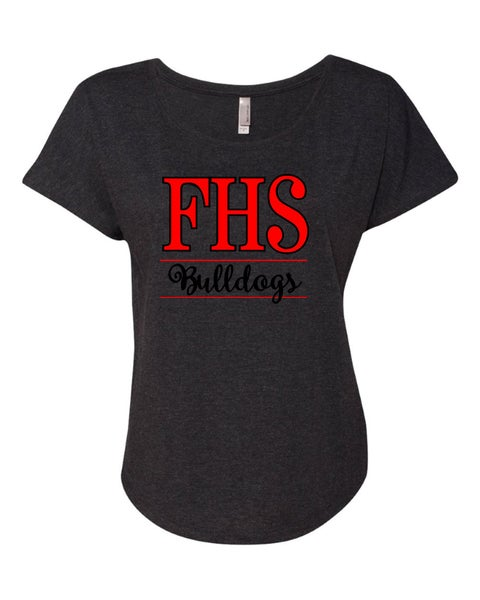 Image of Ladies Flowy Dolman Tee