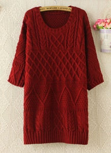 Image of CUTE LONG SWEATER DRESS