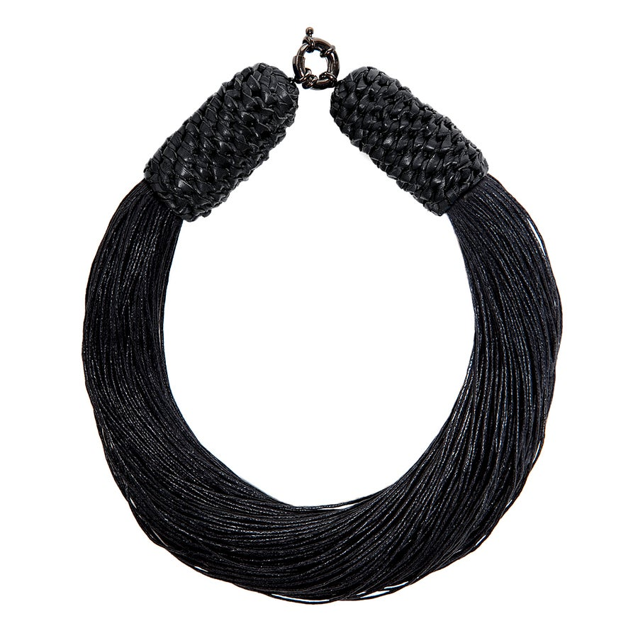 "Image of Black ""Tropics"" Neckpiece"