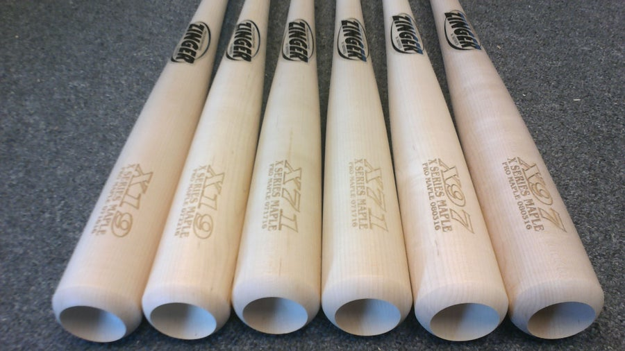 Image of X97 - 6 Bat Pack - All Natural Pro Maple w/ Ink Dot