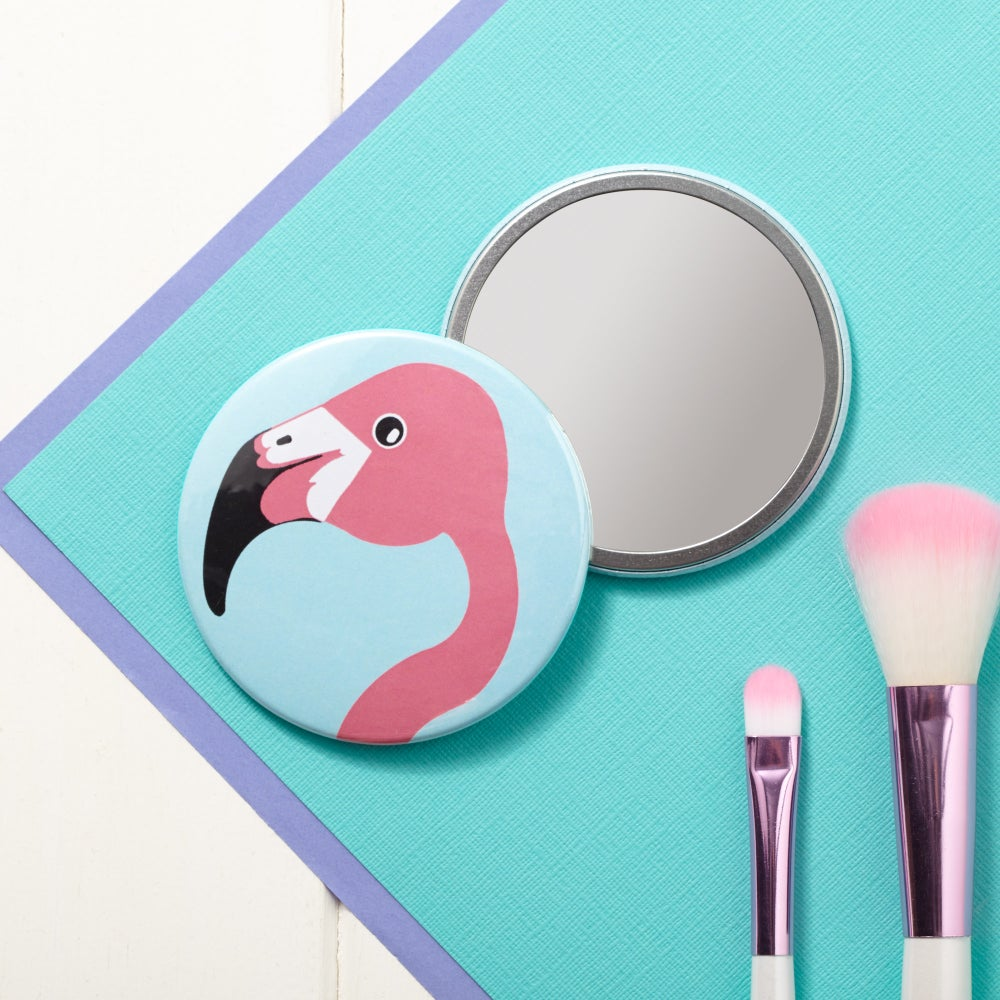 Image of Miss Flamingo Pocket Mirror