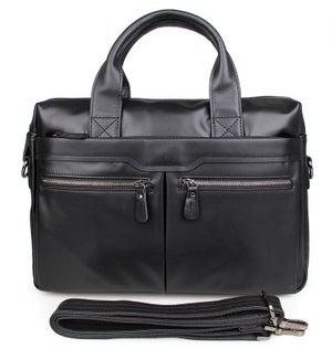 "Image of Men's Handmade Leather Briefcase / Messenger / 13"" 15"" MacBook 13"" 14"" Laptop Bag (n02B)"