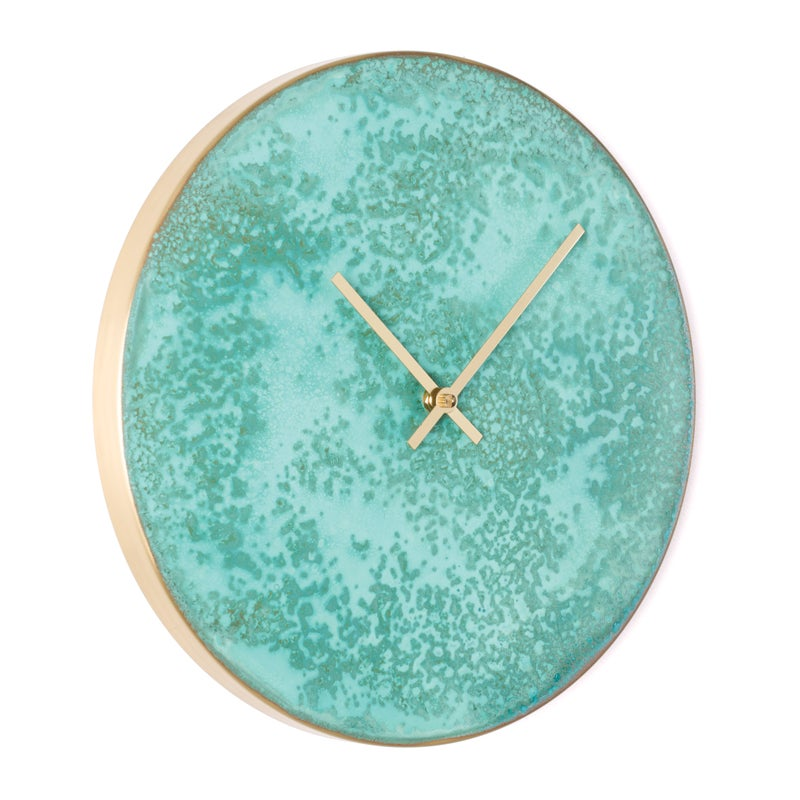 Image of Patina Clock - Turquoise