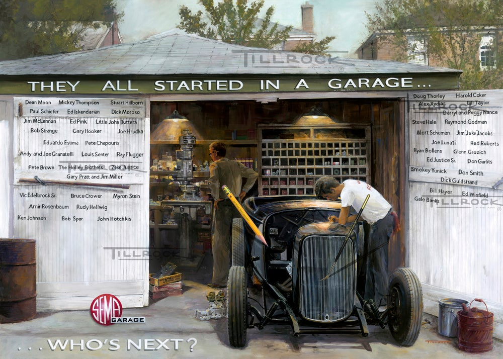 "Image of The SEMA Garage ""They All Started In A Garage"" Giclee' Print"