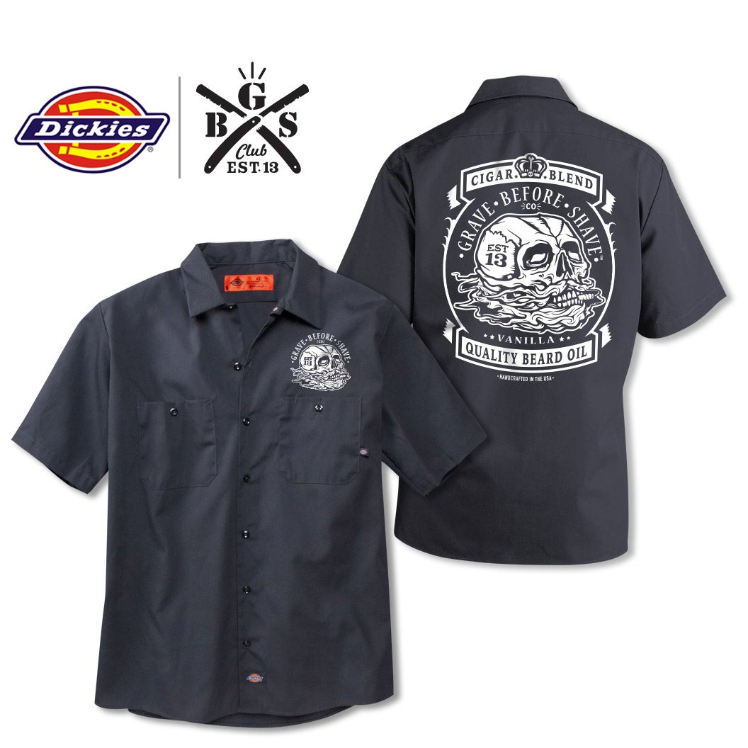 Fisticuffs llc grave before shave gbs club grave for Dickies big tex shirt