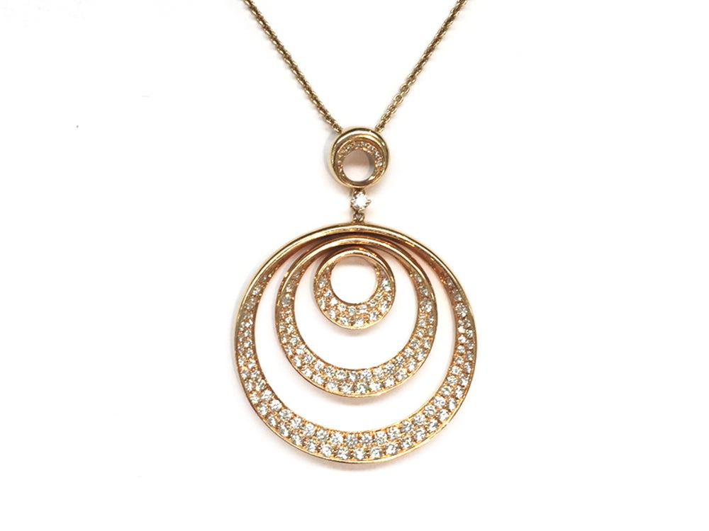 Image of Rose Gold And Diamond Pendant