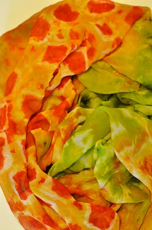 Image of Silk Chiffon Sunflower Scarf