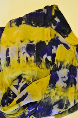 Image of Purple and Yellow Scarf