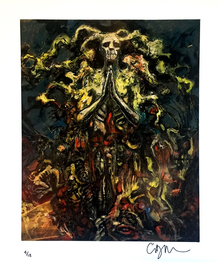 Image of Clive Barker Print 'Demon' signed & numbered ed. 13