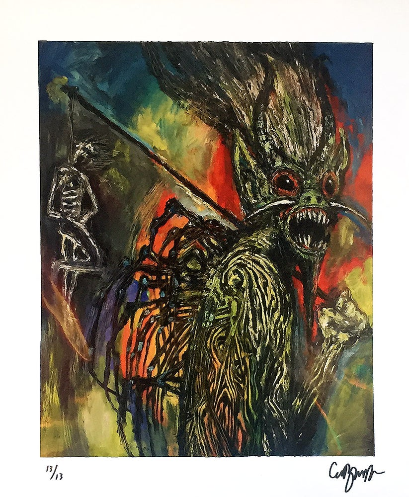 Image of Clive Barker Print 'Monster' signed & numbered ed. 13