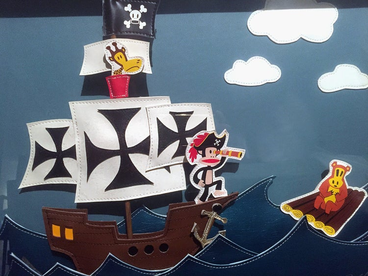 Image of Paul Frank 'Pirates' original art