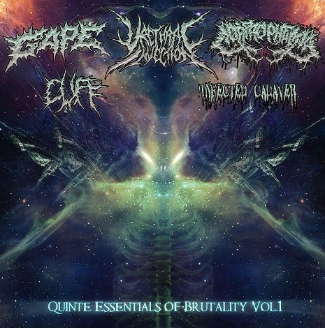 Image of Quinte Essentials of Brutality Volume#1 – 5 Band Split Cd