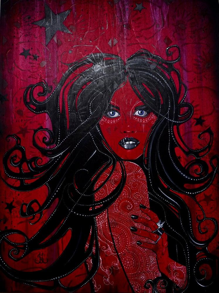 Image of Scarlett -Original Painting- By Trisha Lurie