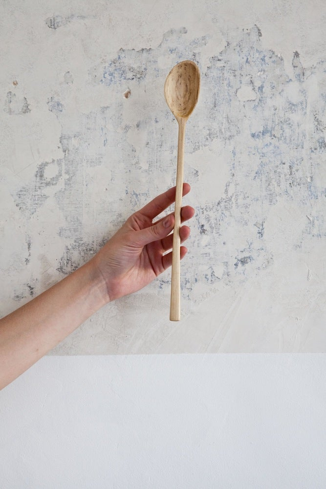 Image of Thin Medium Walnut Stirring Spoon