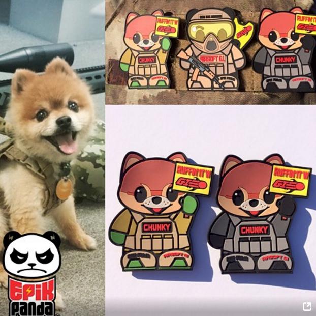 Image of Airsoft GI x Epik Panda Chunky Patch (Custom)