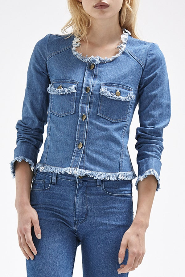 Image of Callie Jacket - blue Denim