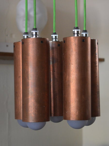 Image of Copper Pendant Chandelier