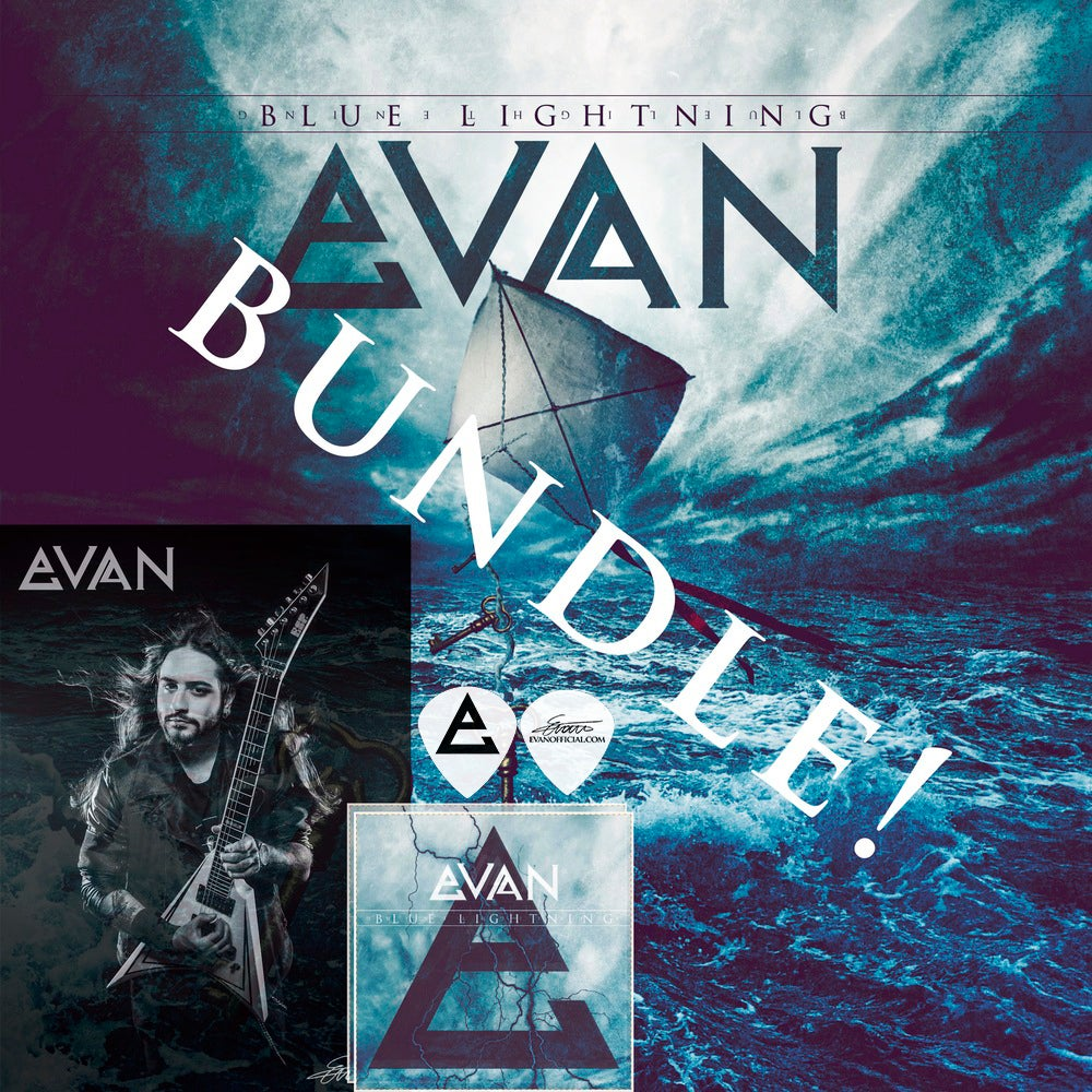Image of EVAN K ULTIMATE BUNDLE! (CD, Poster, Stickers, Picks)