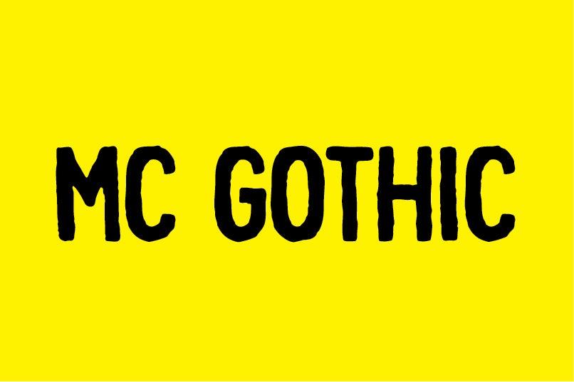 Image of MC GOTHIC font