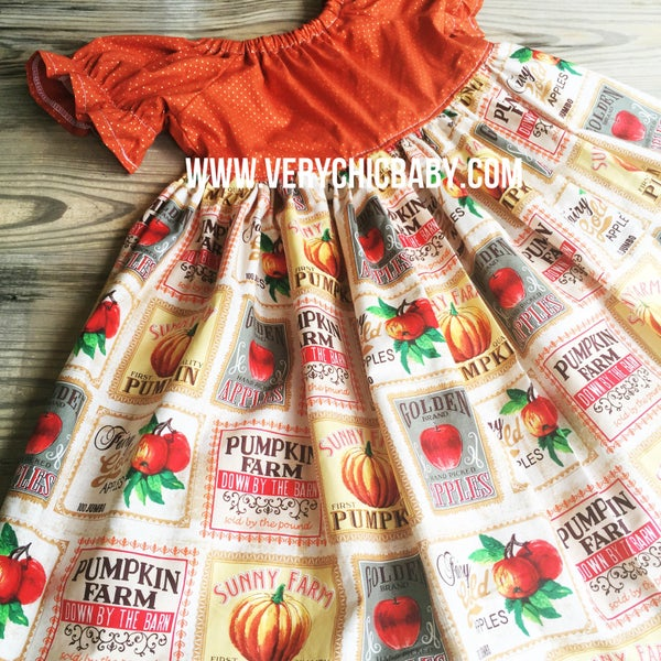 Image of Perfect pumpkin patch peasant dress