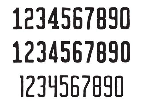 Image of Vanity Numbers Vector Set