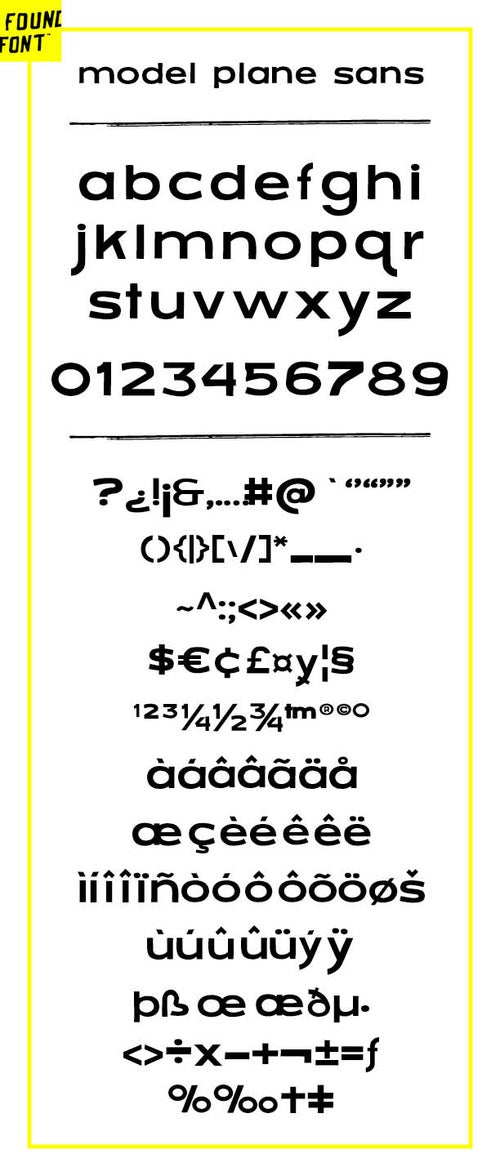Image of Model Plane Sans font