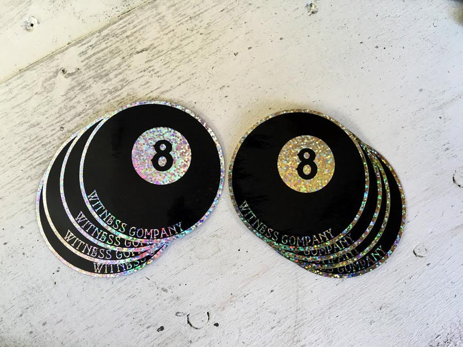 Image of 8 Ball Glitter Stickers