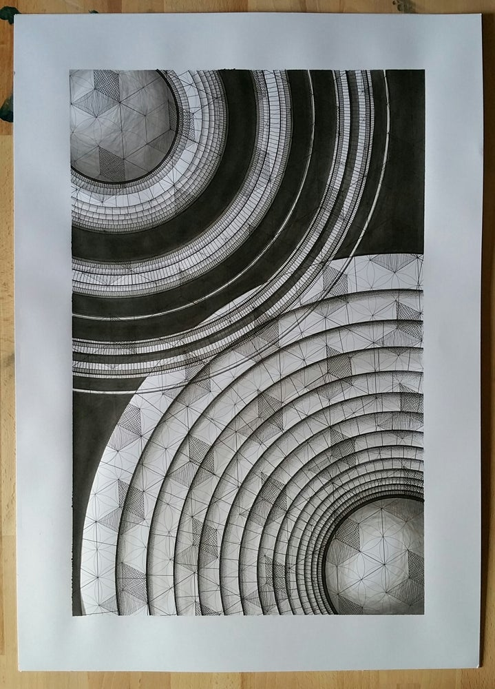 Image of 'Blueprints for Time Travel - No.1' original illustration