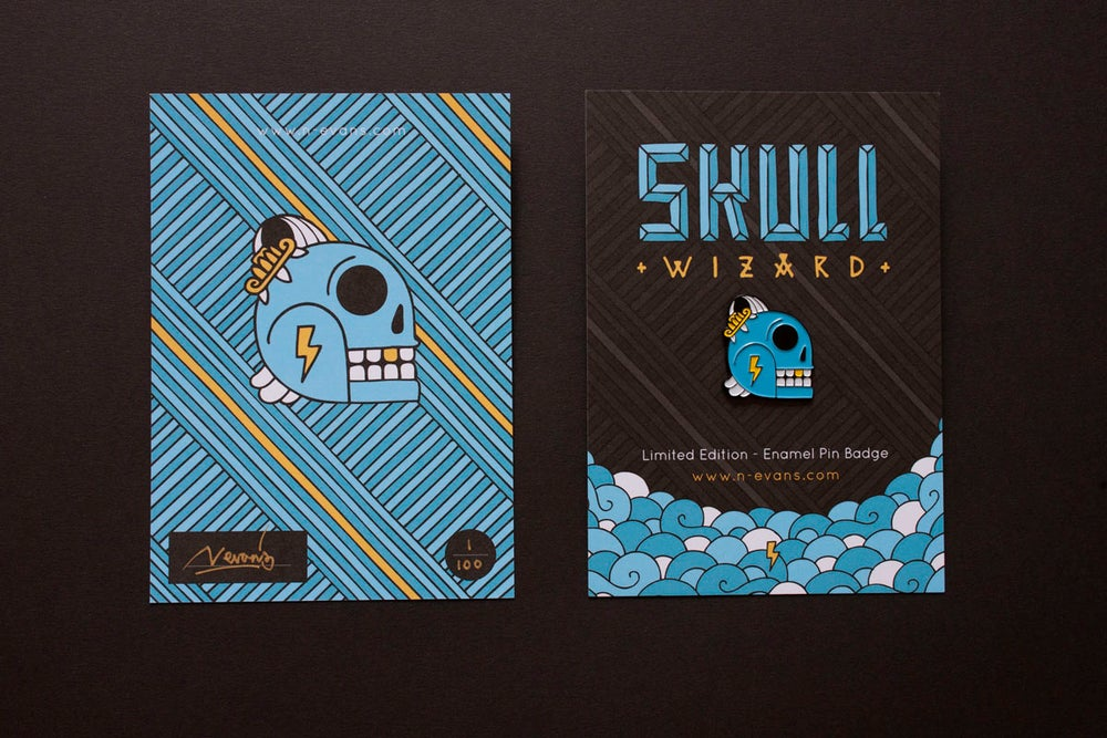 Image of Skull Wizard Pin Badge (Limited Edition)