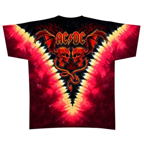 """Image of ACDC Skull """"Double Wash"""" T Shirt"""