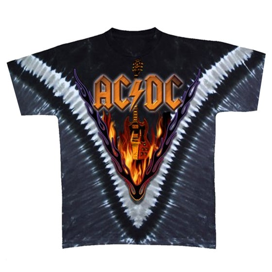"""Image of ACDC Flame """"Double Wash"""" T Shirt"""