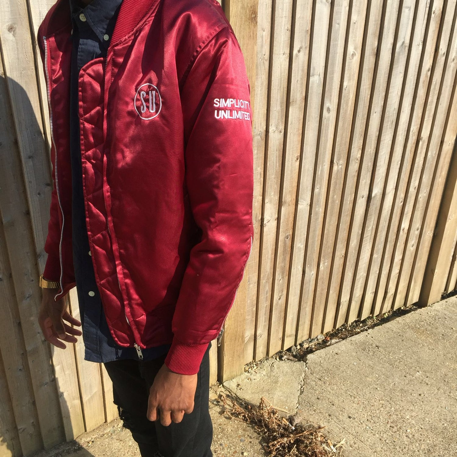Image of BOMBER JACKET // BURGUNDY
