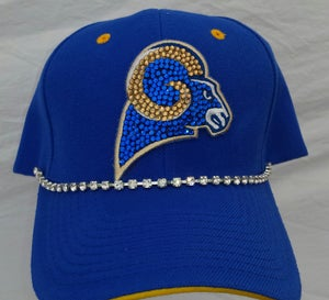 Image of Custom Rams Football Basball Hat  *ANY SPORTS TEAM CAN BE DONE*