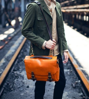 Image of Handmade Leather Messenger Bag / Briefcase / Satchel / Laptop Bag / Men's Bag Women's Bag (n31)