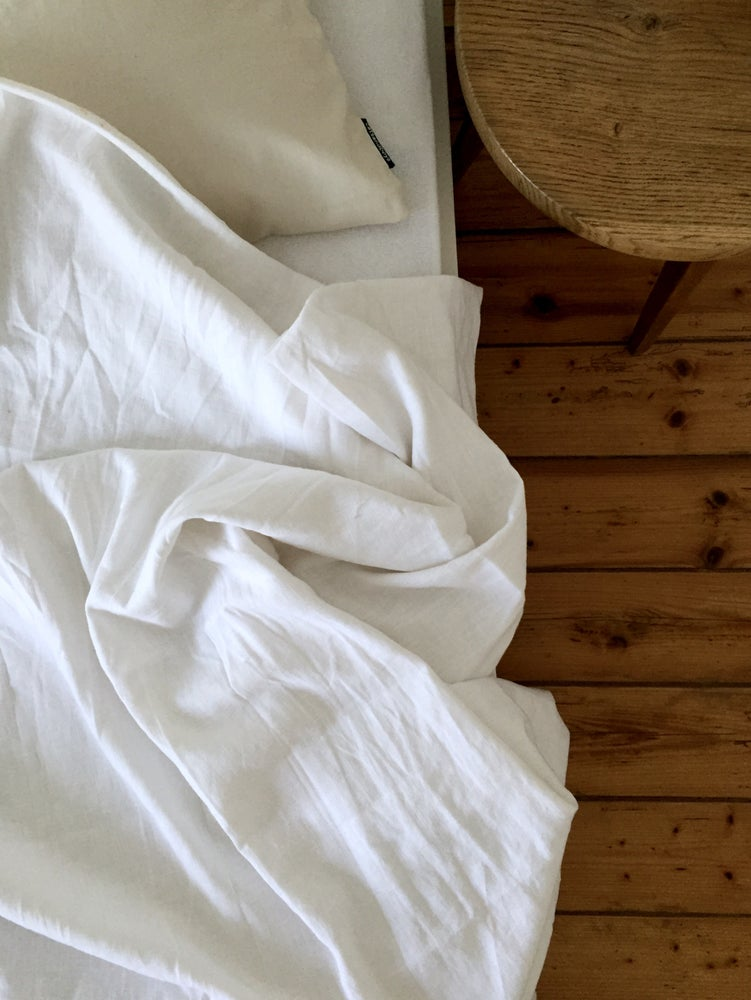 Image of linen duvet cover set